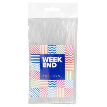 Нож Weekend прозрачный пластик 10шт/уп - купить, цены на Novus - фото 1