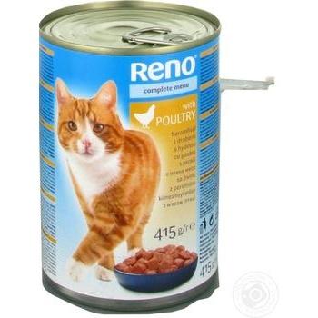 Консервы Reno для котов птица 415г