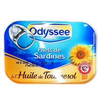 Филе сардины Odyssee в масле 100г