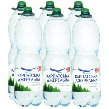 Мінеральна вода Карпатська джерельна слабогазована 2л