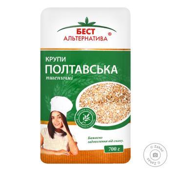 Крупа Бест Альтернатива Полтавская № 3 пшеничная 700г - купить, цены на Восторг - фото 1