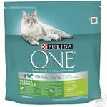 Корм сухой Purina ONE Indoor с индейкой и цельными злаками для взрослых котов 1,5кг