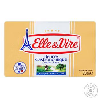 Масло Elle&Vire сливочное несоленое 82% 200г