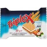 Вафлі Triplex з фундуком молоком та какао кремом 20г - купити, ціни на Ашан - фото 1