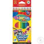Карандаши акварельные Colorino + кисточка 12 цветов
