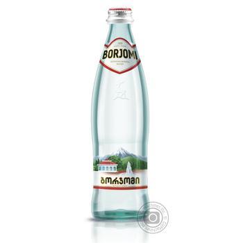 Вода Borjomi минеральная сильногазированная 0,5л - купить, цены на Ашан - фото 1
