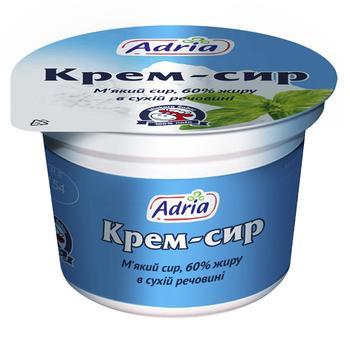 Крем-сир Адріа м'який 60% 100г - купити, ціни на МегаМаркет - фото 1