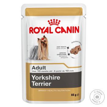 Корм Royal Canin для дорослих собак породи Йоркшир терьєр 85г - купити, ціни на Восторг - фото 1