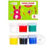 Фарба Гамма Craft & Joy гуаш 6 кольорів 10мл