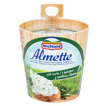 Сыр творожный Хохланд Альметте с травами 60% 150г Польша - купить, цены на Ашан - фото 2