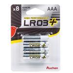 Батарейки Ашан солевые LR3 АAA 8шт