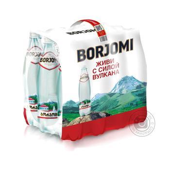 Вода Borjomi минеральная газированная 0,5л стекло