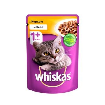Whiskas With Chicken In Jelly For Adult Cats Food - buy, prices for EKO Market - photo 1