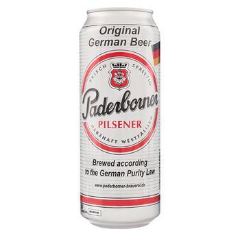 Пиво Paderborner Pilsener світле 4.8% 0.5л