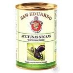 San Eduardo Pitted Black Olives 280g