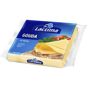 Сыр Лактима Гауда плавленый нарезанный 36.2% 8х16.25г - купить, цены на Ашан - фото 1