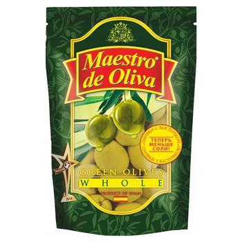 Оливки Маэстро де Олива с косточкой 200мл - купить, цены на Novus - фото 1