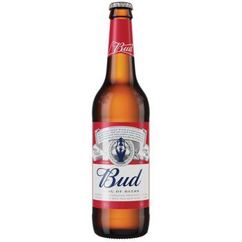 Пиво Bud светлое 5% 0,5л