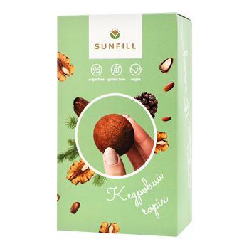 Конфеты Sunfill с кедровым орехом без сахара и глютена 150г