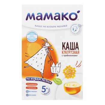 Каша на козьем молоке Мамако кукурузная с пребиотиками 200г