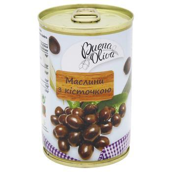 Маслины Buena Oliva с косточкой 314мл - купить, цены на Фуршет - фото 1