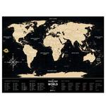 1DEA.me Travel Map Black World Scratch Map of the World ua
