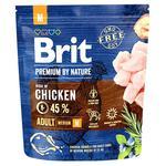 Корм Brit Premium Adult M сухой со вкусом курицы для взрослых собак средних пород 1кг