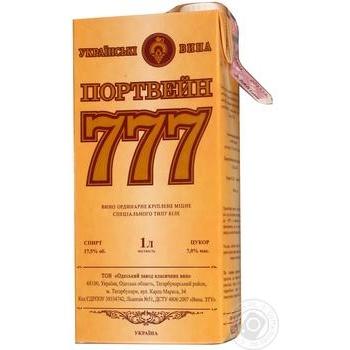 Вино белое Крымские Вина Портвейн 777 Белый ординарное крепкое 17.5% тетрапакет 1000мл Украина - купить, цены на Ашан - фото 5