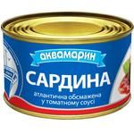 Сардина Аквамарин обсмажена в томатному соусі 230г - купити, ціни на Novus - фото 1