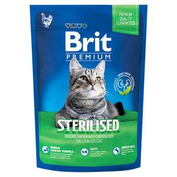 Корм сухий Brit Premium для стерилізованих котів 1,5кг - купити, ціни на Ашан - фото 1