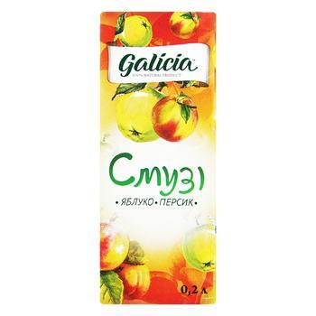 Смузі Galicia Яблуко-персик 0,2л - купити, ціни на Ашан - фото 1