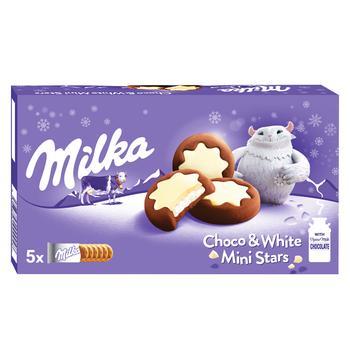 Печенье Milka Choco and White Mini Stars 187г
