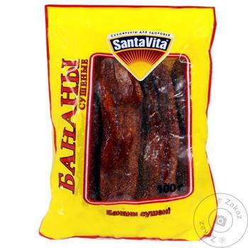 Банан сушеный Santa Vita 100г - купить, цены на Таврия В - фото 1