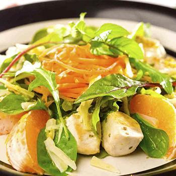 Салат с апельсином и курицей
