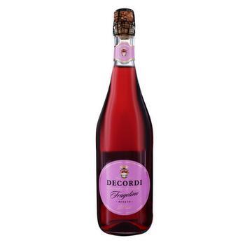 Вино игристое Decordi Fragolino рожеве напівсолодке 7.5% 0.75л - купити, ціни на Ашан - фото 1