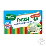 Губка кухонная Мелочи жизни антибактериальная 5шт - купить, цены на Novus - фото 1