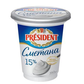 Сметана Президент 15% 400г - купить, цены на Фуршет - фото 8