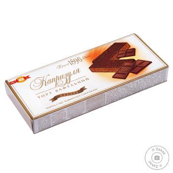 Торт ХБФ Бисквит-Шоколад Капризуля вафельный с шоколадной начинкой 260г - купить, цены на МегаМаркет - фото 1