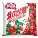 Zarechie Yogurt strawberry  1,5% 400g