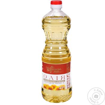 Масло подсолнечное Українська Зірка рафинированное 810мл