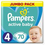 Pampers Active Baby-Dry 4 Maxi Baby Diapers 8-14kg 70pcs