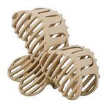 Заколка-крабик Dini Matte Style Три Сердца кремовый для волос d-682