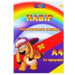 Бумага Тетрада цветная А4 7 цветов 14листов