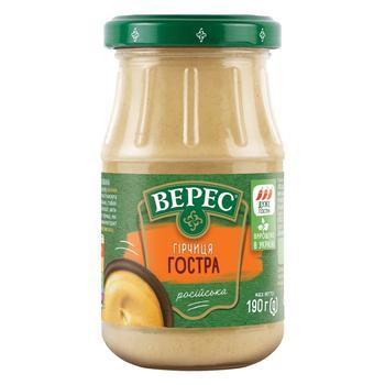 Veres Rosiysʹka hot mustard 190g - buy, prices for Auchan - photo 1