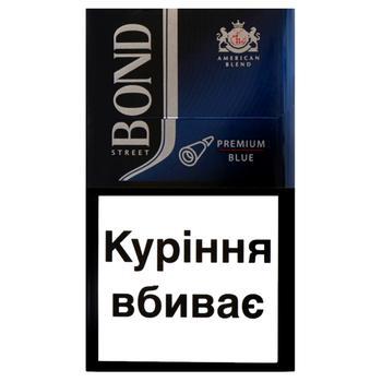 Сигареты Bond Street Premium Blue - купить, цены на Фуршет - фото 2