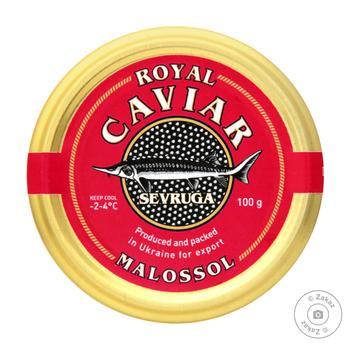 Икра чорна Caviar Malossol севрюги 100г