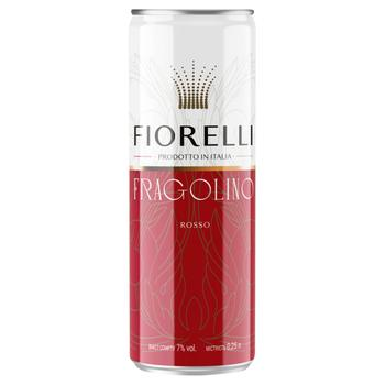 Fiorelli Fragolino Rosso Red Sweet Sparkling Wine 7% 0.25l - buy, prices for Furshet - image 1