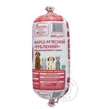 Фарш Ашан мясной рубленый для домашних животных 500г