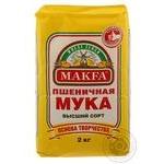 Мука пшеничная Макфа Премиум 2кг