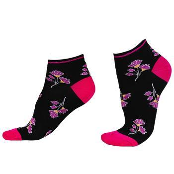 Носки женские Mura C3762 Petunia Sneakers nero/fuxia